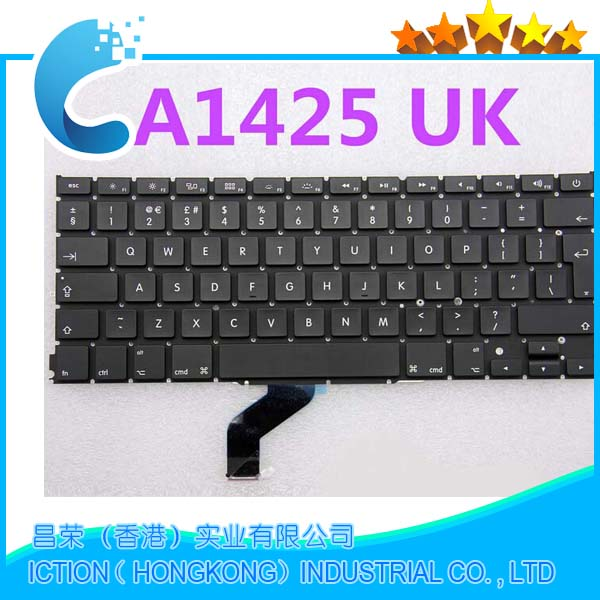 "Genuine Original A1425 Keyboard For Apple Macbook Pro Retina 13.3"" 13"" US 2012Year Teclado Laptop Keyboard"