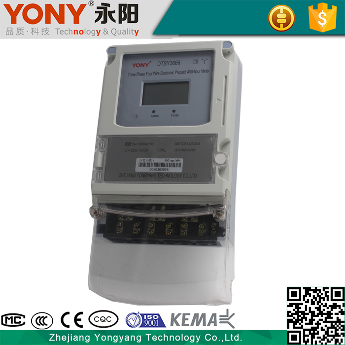 New design Three Phase four wire Prepaid electric Meter