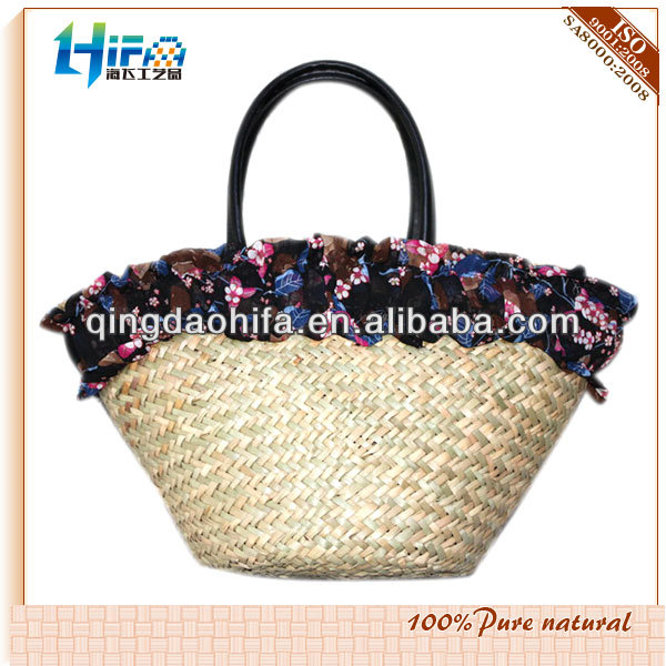 Natural Corn Husk Recycled Straw Bag for Ladies