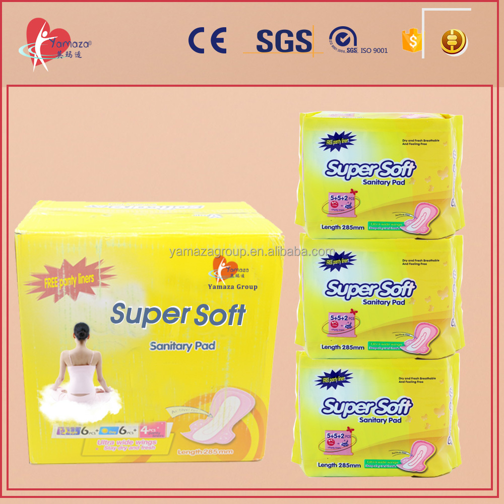 Best selling disposable cotton night use breathable winged hospital sanitary napkin