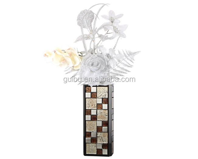 New Product For 2015 Mosaic Flower Floor Vase Made In china