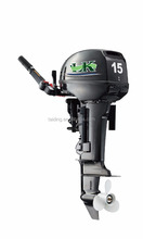 Black 15hp 2 stroke outboard motor,custom logo can be accepted