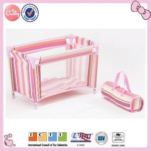 High quality doll travel bed and beding