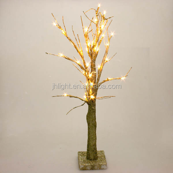 Battery operated gold glitter twig tree with warm white leds 60cm battery operated gold glitter twig tree with warm white leds 60cm aloadofball Images