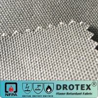 100% Cotton 360GSM Fire Resistant Water Oil Resistant Canvas Fabric for Welder Worker