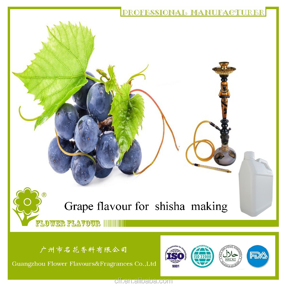 HALAL, Grape liquid flavor used for hookah shisha, various types of fruity flavouring are available