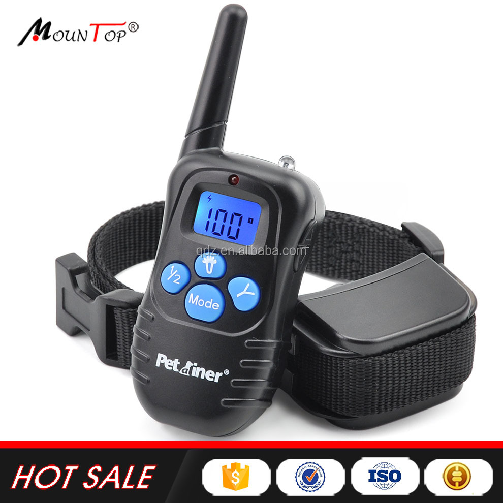 2017 Pet Training Products Accessories Dog Training Collar With Vibration/ Electronic Shock/ Beep Barking Dog Bark collar