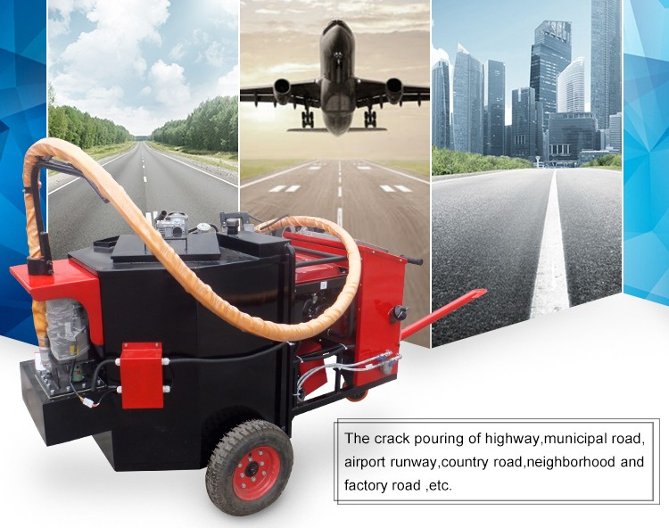 200 L electronic stepless speed regulation asphalt filling crack sealing machine