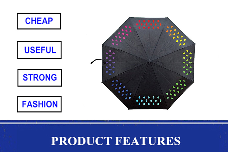 2015 New Invention Promotional Gift Umbrella Color Changing Umbrella