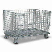Staking metal crate frame grid cage china manufacturer