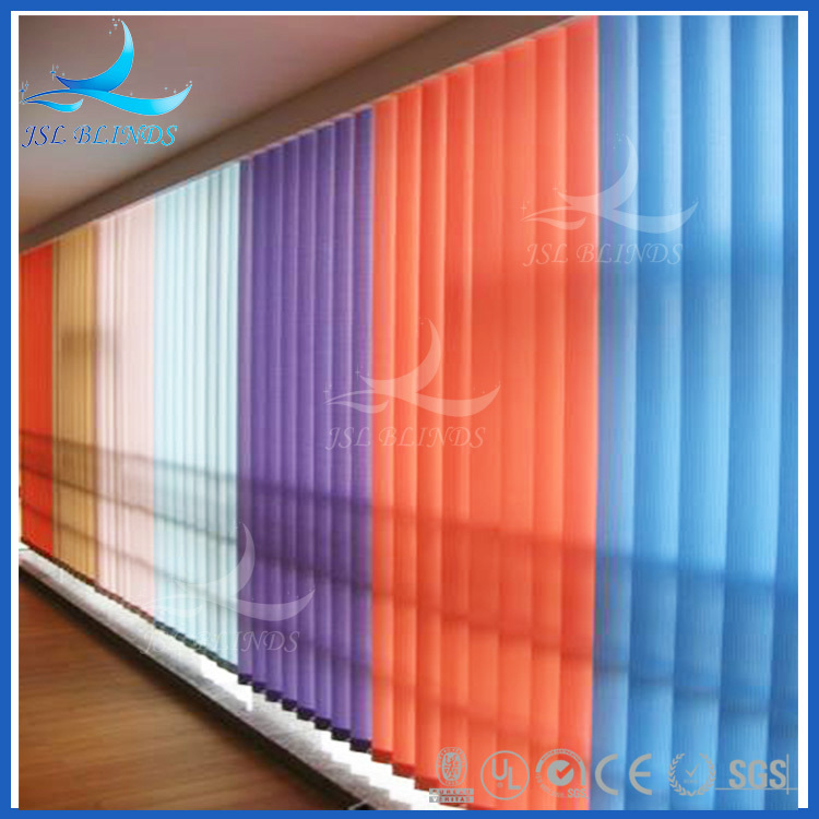 Fabric material rainbow colored window blinds