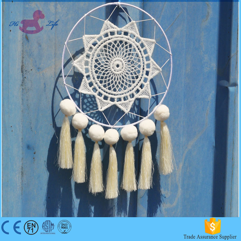 Branco indiano dream catcher decor