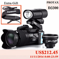 PROTAX 16MP D3300 Digital Cameras professional Cameras HD Camcorders DSLR Cameras Wide Angle 21x Telephoto Lens