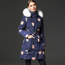 2016 raccoon fur collar down jacket women thick font b winter b font new high end