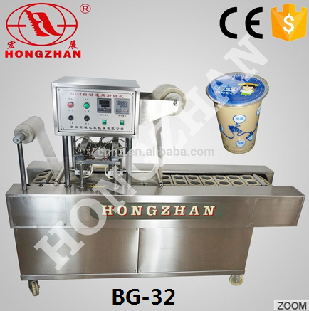 water cup filling sealing machine with capping and aluminum foil cup lid sealer