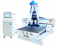 Three sets of 6.0kw spindle cnc atc cnc router for woodworking for wood kitchen cabinet door