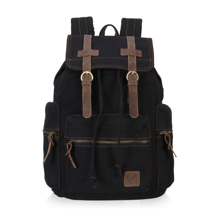 2b55a9ce61 Buy VEEVAN Unisex  39 s Retro High Density Casual Large Style Canvas Satchel  Laptop Backpack Fashion Vintage School Bags Backpack in Cheap Price on ...