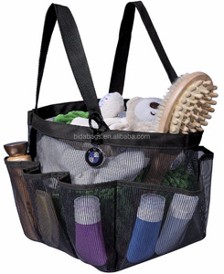 Portable Shower Caddy with 8 Mesh Storage Pockets, Quick Dry Shower Tote Bag Oxford Hanging Toiletry and Bath Organizer for Sham