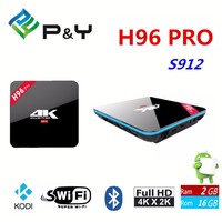 High Quality Amlogic 2G 16G H96 Pro S912 4Kx2K Google Androi 6.0 Octa core Android Tv Box