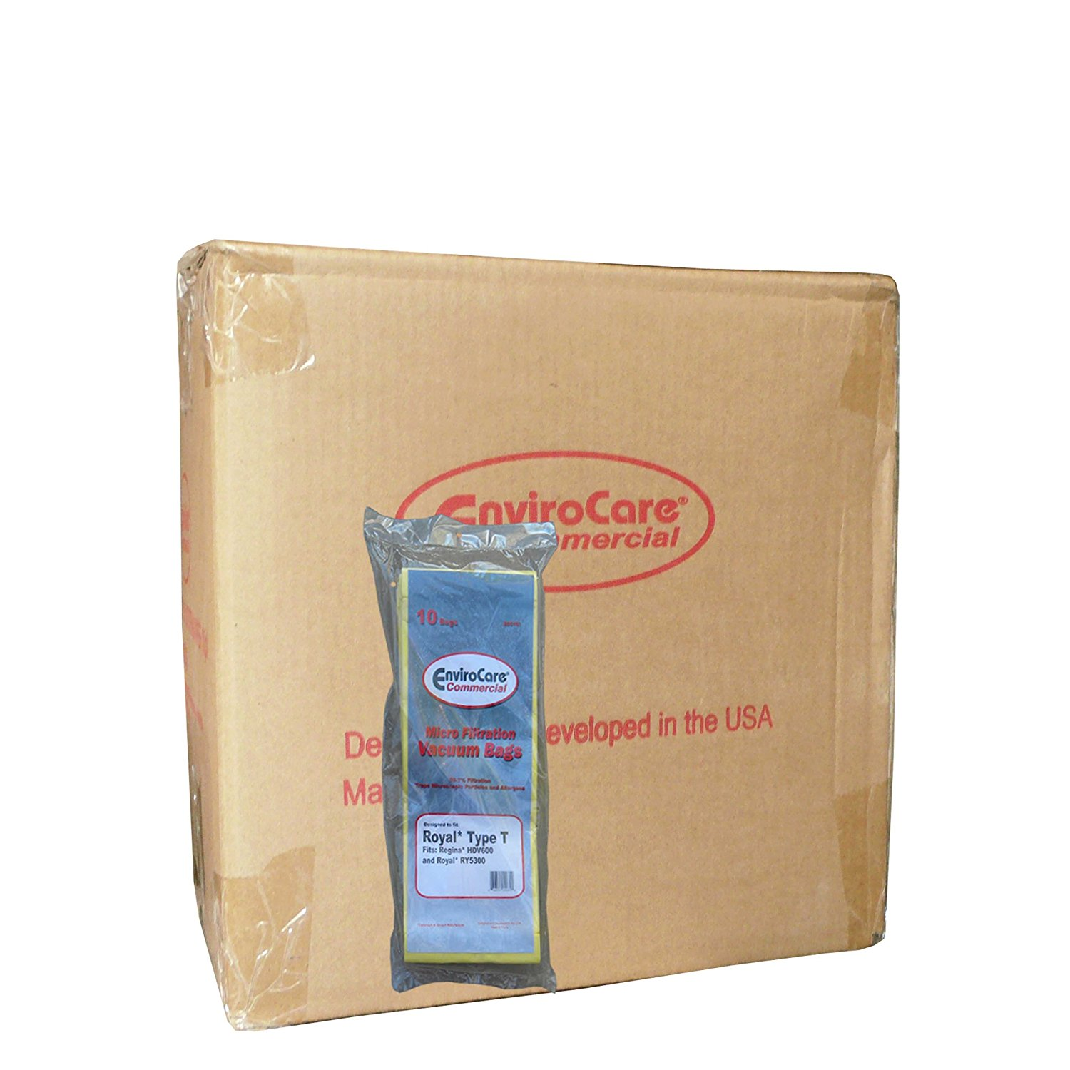 1 Case (10 pkgs) Commercial Bags Fit Royal Ultra Type T 3-423002-001 RY5300 Upright Vacuum Cleaner, Regina, Triton, LG, Simplicity, Bernina, Cirrus, Belvedere, Riccar, Carpet Pro, CleanMax, DustCare, Evolution, Sanyo, Fuller Brush, Powr-Flite, Sears Kenmore, Panasonic3-423002-001, 1-423002-000,