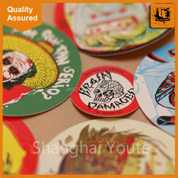 Custom Big Size Transparent Vinyl Seal Stickers Printing, Round Transparent  Clear Label Stickers Printing For