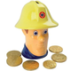 Custom made Fireman Sam Plastic Money Bank Box Cash with Chocolate Penny Christmas