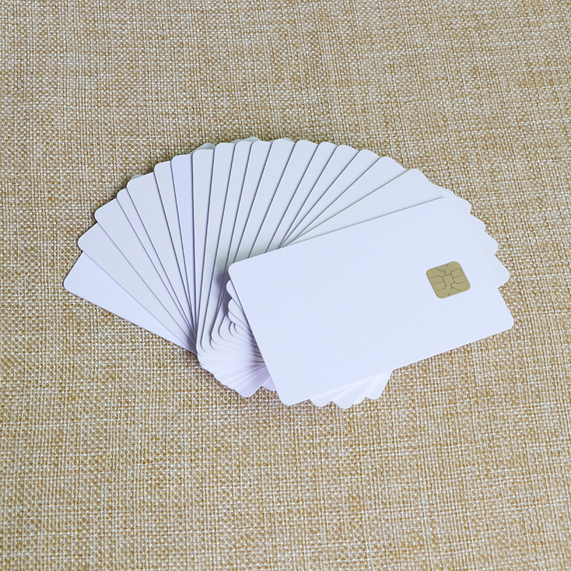 Transparent clear plastic smart business cards