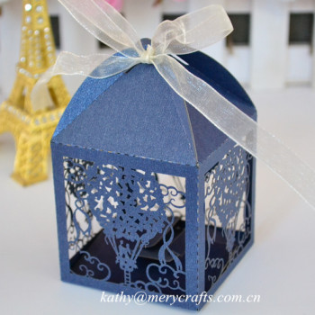 Laser Cut Oniere Wedding Bo Navy Blue Favour Cupcake For