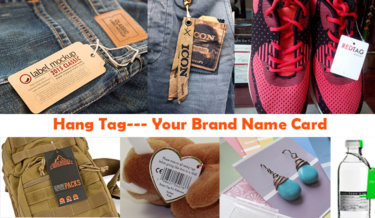 Rose Gold Foil Printing Cardboard Hang Tags Custom Luxury Paper uv Hangtags for Clothing