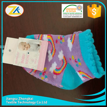 wholesale high quality non skid cotton baby socks