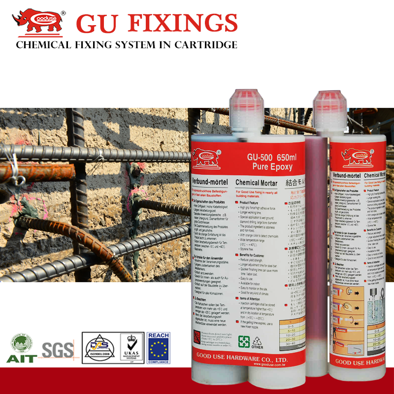 Taiwan construction chemical manufacturing companies Mortar Joints in Stone Walls Wedge Anchor Bolts Installation