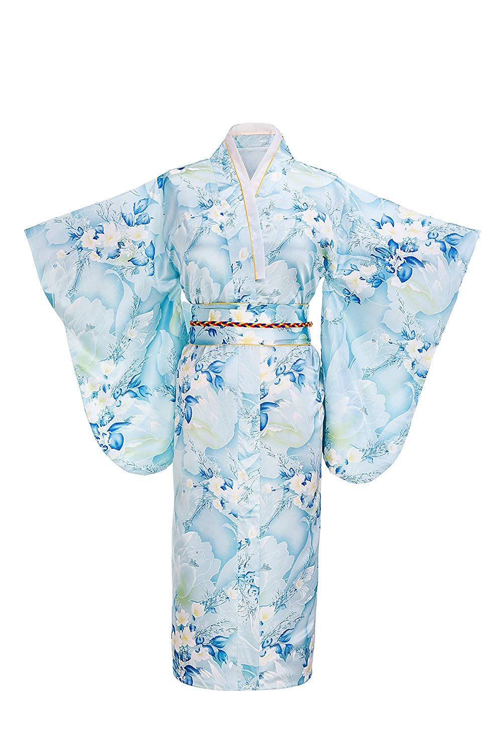 Get Quotations · Old-to-new Women s Silk Traditional Japanese Kimono Robe  Bathrobe Party Robe 49f8c8798