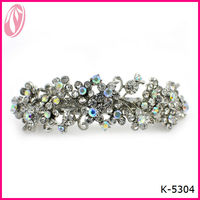New fashion crystal stones metal hair stick barrettes for long hair