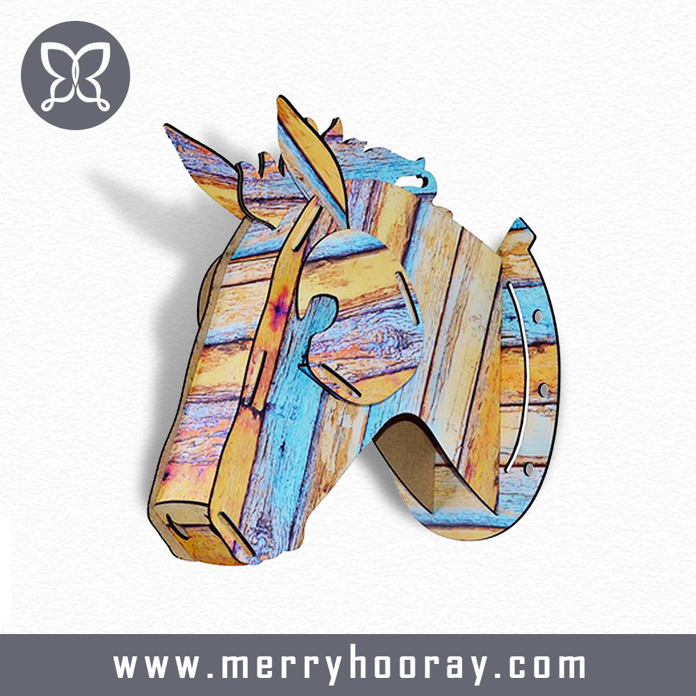 Handmade wall hanging ideas wood animal head decorative wall <strong>art</strong>