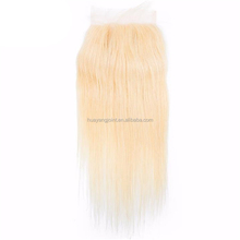 wholesale hair bundle natural indian remy hair weaving 613 color silk straight blonde hair bundles with lace closure