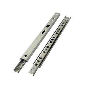 Galvanized sheet 17mm linear guide rail steel channel for metal box drawer slide