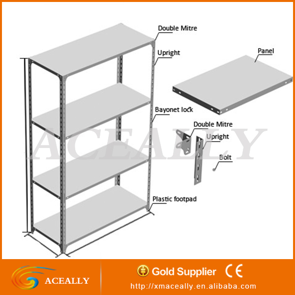 2016 Metal Galvanized Perforated Slotted Used Angle Iron Shelving ...