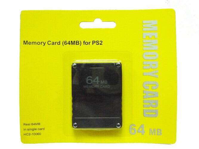 New 64MB memory card for PS2 data storage