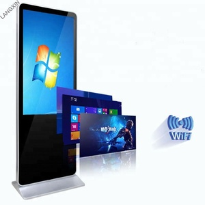 55inch floor stand touch screen totem lcd display AIO digital signage kiosk