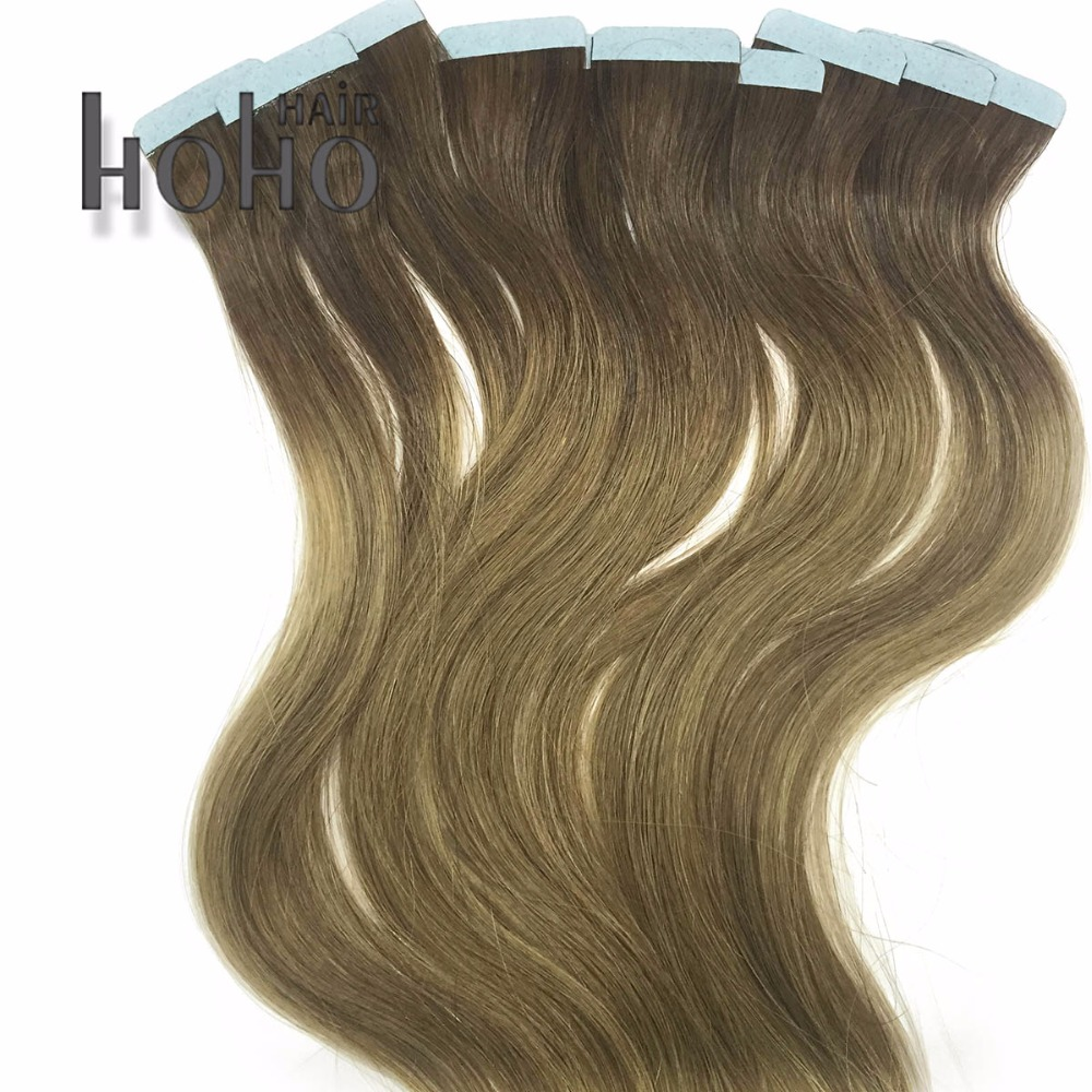 March Expo Best Quality Ombre 24 Inch Curly Tape Hair Extensions