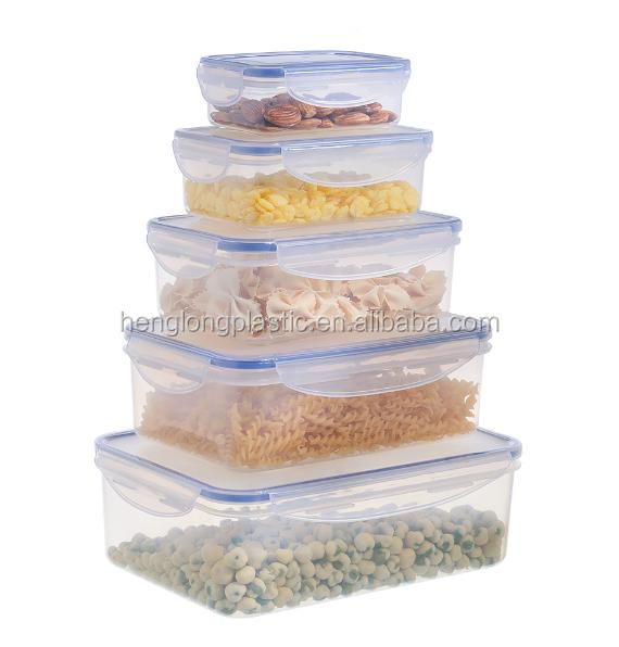 Stapelbare luftdichte quadratische Vorratsbehälter für Lebensmittelbehälter N1T3