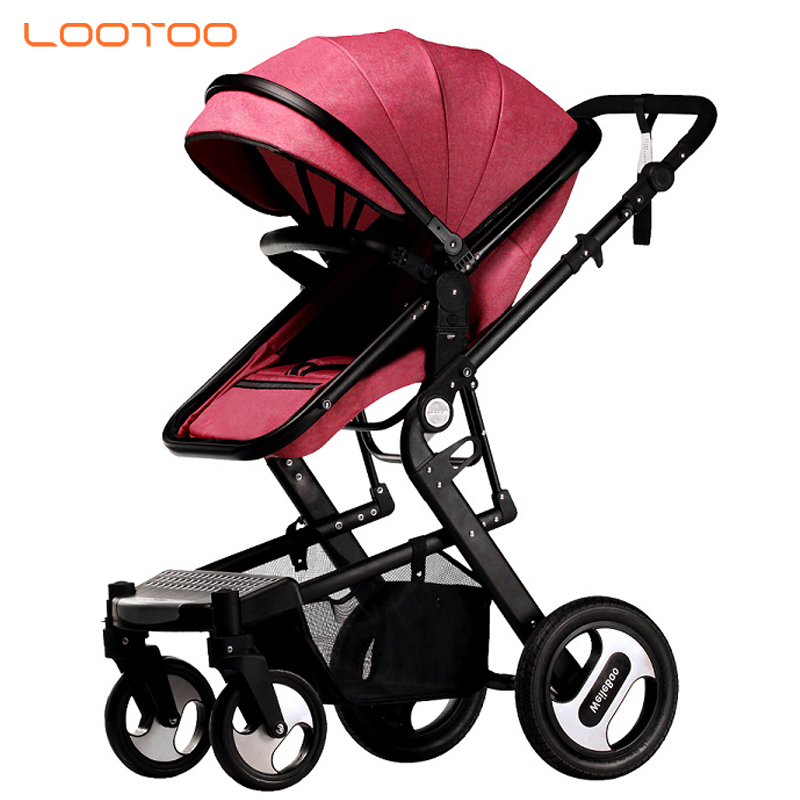 Aluminum frame high view landscape america europe luxury baby infant carriage for kids