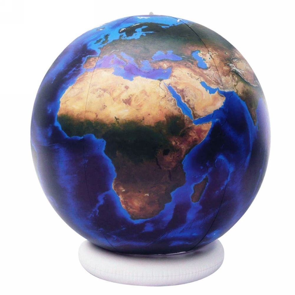 "Jet Creations Inflatable 36"" Blue Marble Globe,Inflatable Children's Teaching Toys"