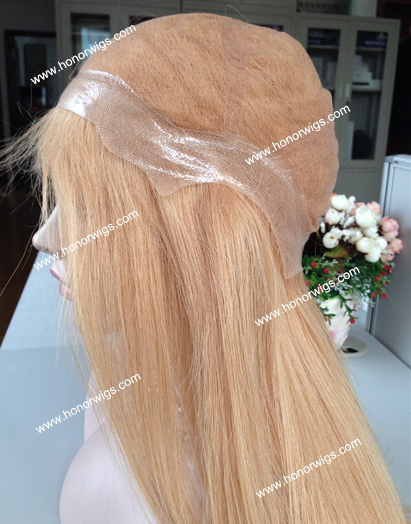 The full lace wig customer own hair 031101 thin skin personal cap size middle part just for our customer YA фото