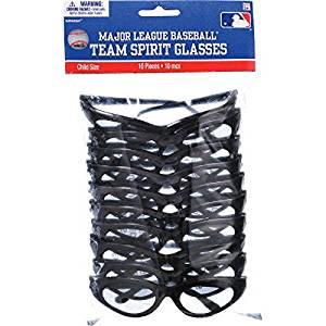 """Amscan MLB Chicago White Sox Party Team Spirit Glasses (10 Pack), Black, 1.5 x 5.8"""""""