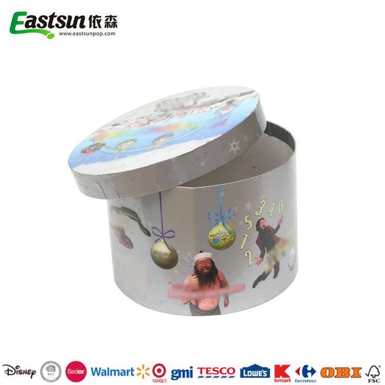 Custom high quality paper cardboard cylinder packaging round box with lids