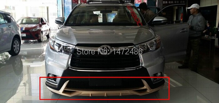 free shipping fit for 2015 toyota highlander front and rear bumpers abs 2pcs set auto. Black Bedroom Furniture Sets. Home Design Ideas