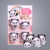 4 Pcs DIY Panda Shape Sandwich Food Deco Cutter and Stamp Kit Biscuit Mold