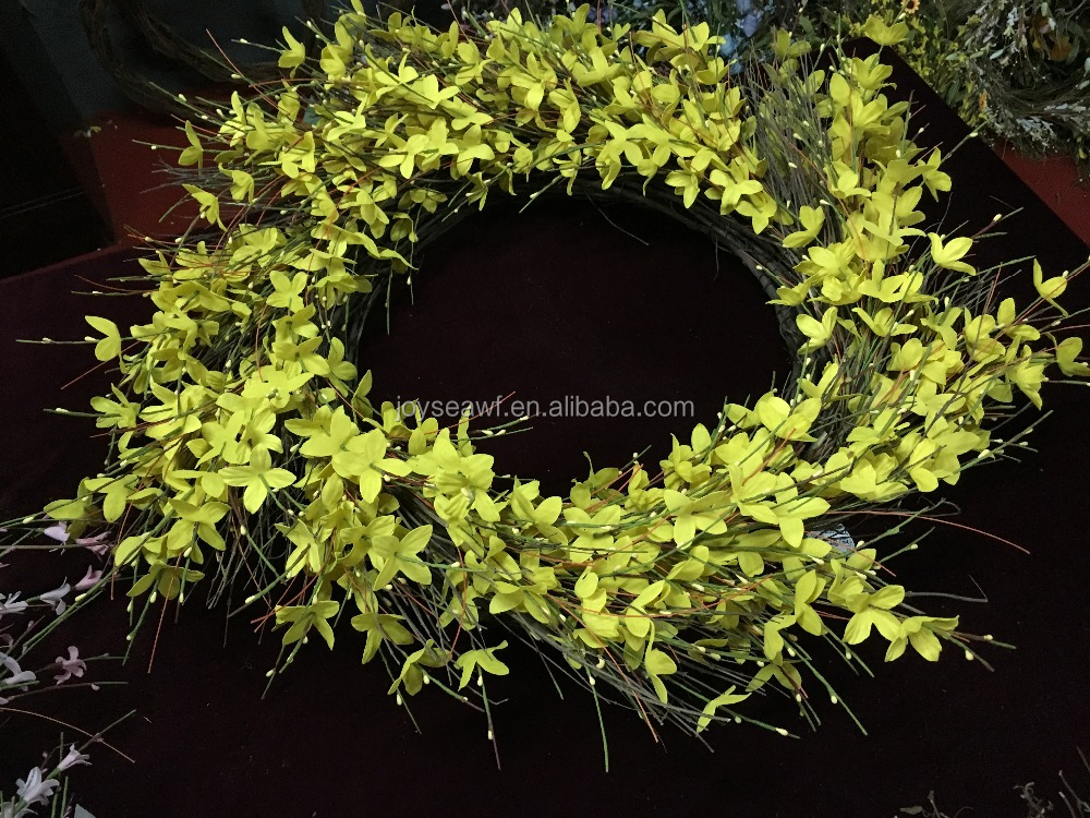 Winter Jasmine Forsythia Handiwork Wreath