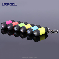 Promotional gift Pocket Mini USB Rechargeable LED Torch Light Flashlight Lamp LED ABS Keychain 0.3W 25Lm